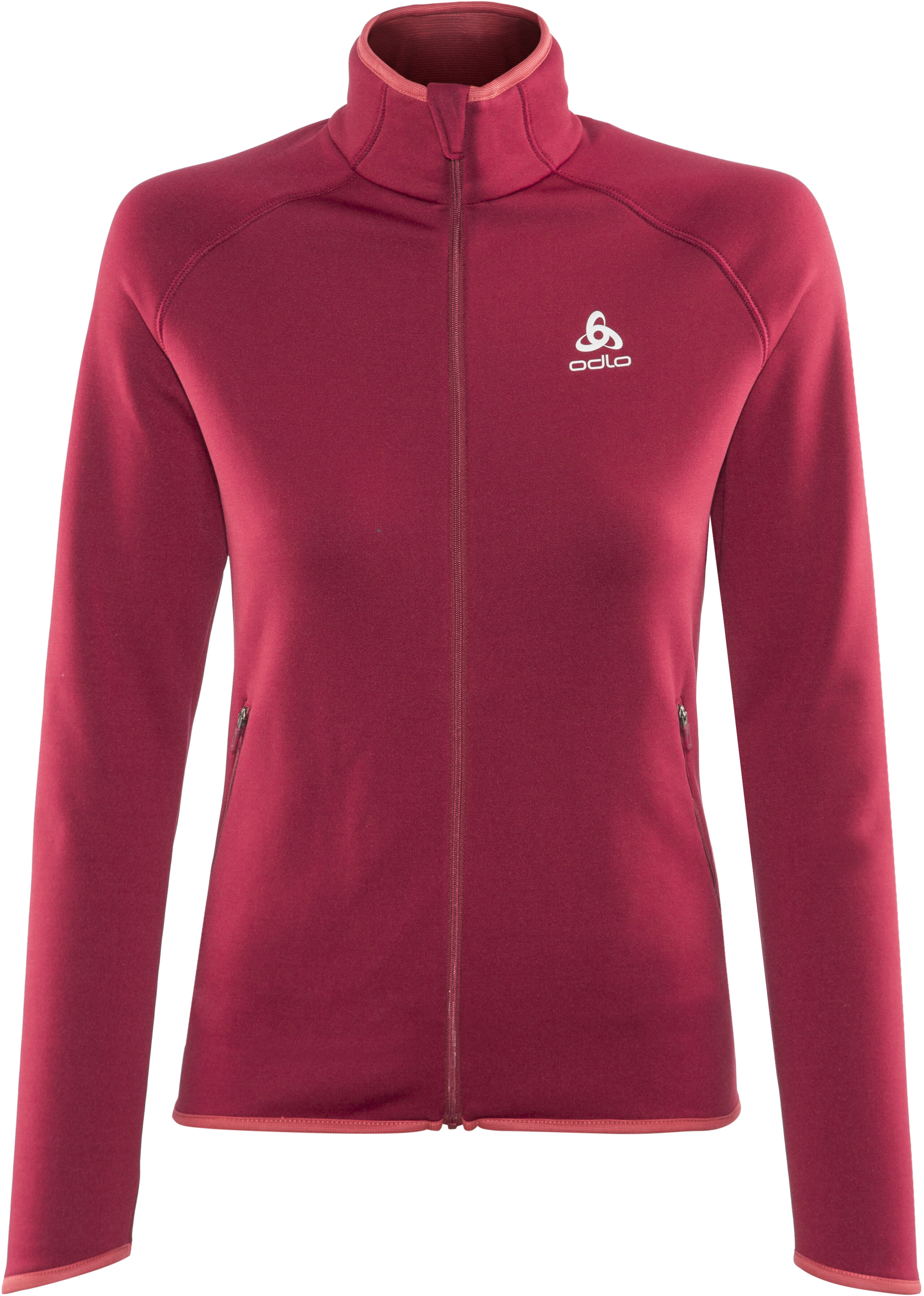 0f05fc8a8 Odlo Carve Warm Midlayer Women red at Addnature.co.uk